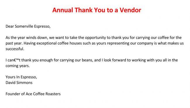 free annual customer thank you