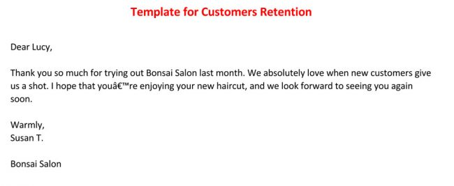 Customers Retention Thank You Template