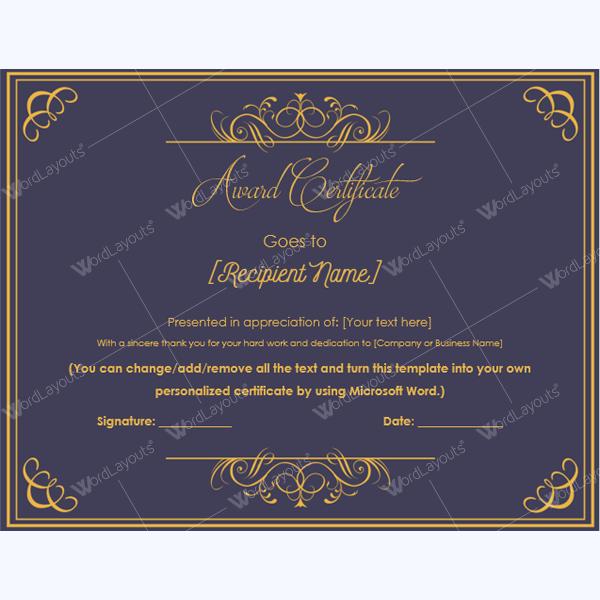 printable math award certificate templates