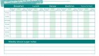 Blood Sugar Log Templates