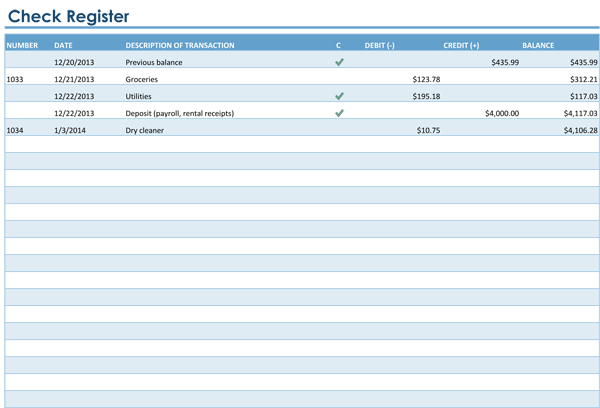 microsoft excel checkbook template anuvratinfo – Printable Bank Ledger