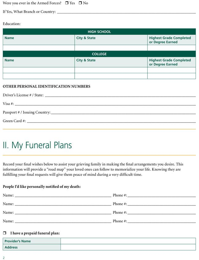 Complete Funeral Plan and Obituary Maker Step by Step