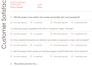 Customer Survey Template Word  Printable Survey Template