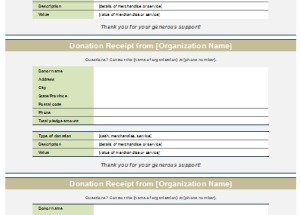 Donation Receipt Template  Editable Receipt Template