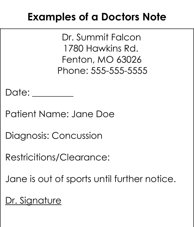 Example of a Doctor Note