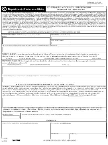 Examples of Medical Records Request Forms