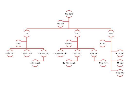 Blank Organizational Chart Samples – Blank Organizational Chart