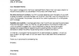 Graduate Resume Cover Letter Samples