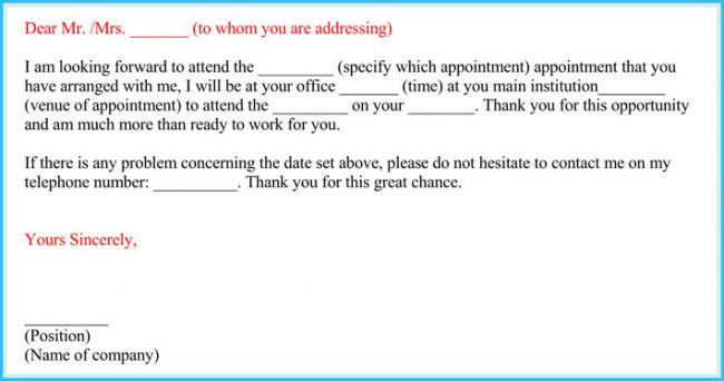 letter appointment sample appointment letter 7 sample letters formats 6106