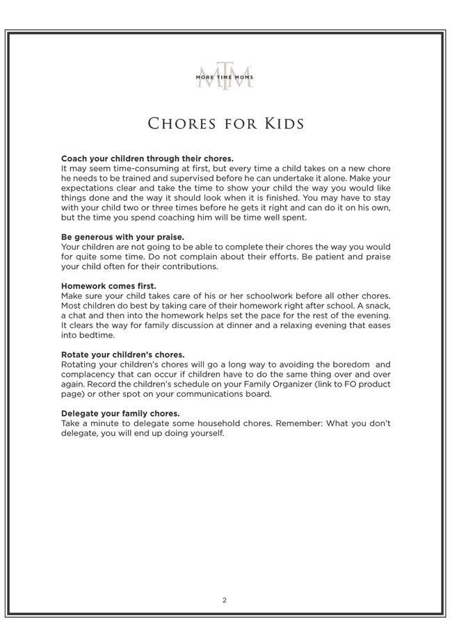 Kids Chore Chart 2