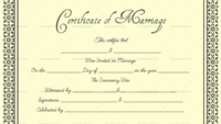 Editable Blank Marriage Certificate Templates – For Word