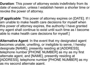 Medical Power of Attorney Form Samples