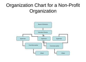 Non-Profit Organizational Chart – 5 Best Samples
