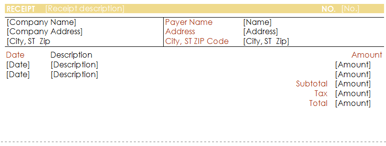 Payment Receipt Format