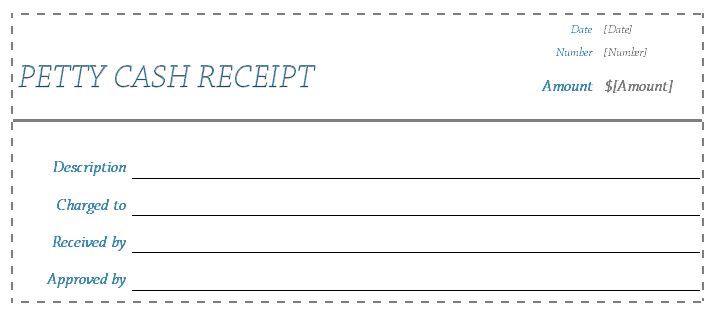 Petty Cash Receipt Template for Word
