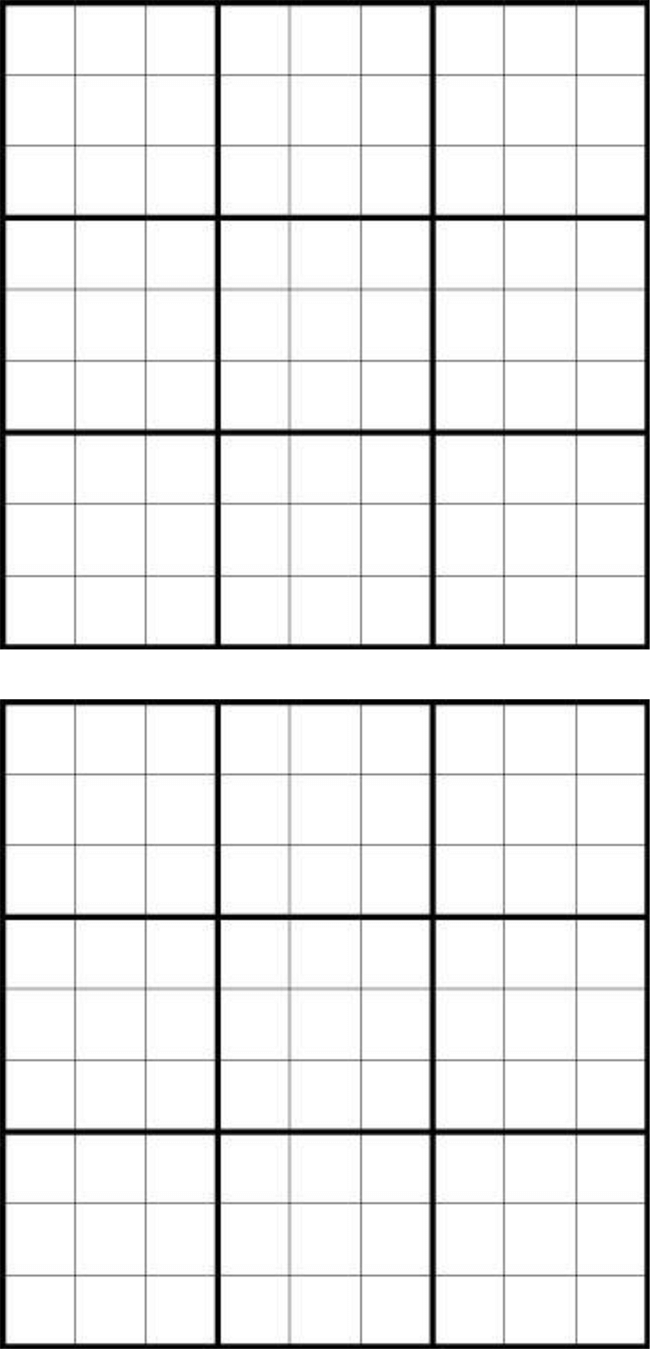 Canny image in printable sudoku grids