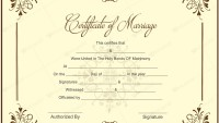 Printable Marriage Certificate Samples