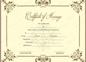 Editable marriage certificate template printable documents printable marriage certificate samples yelopaper Images