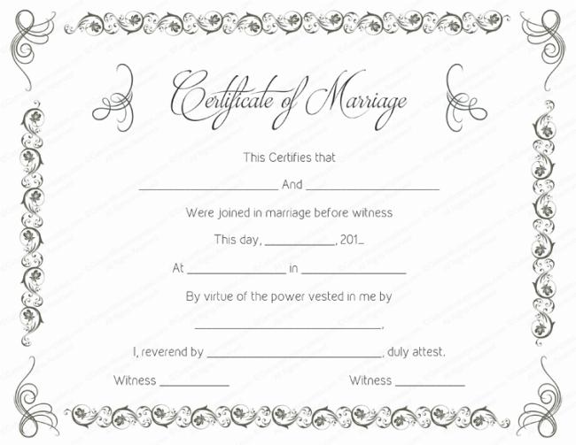 Printable marriage certificate samples printable marriage certificate 3 yadclub Images