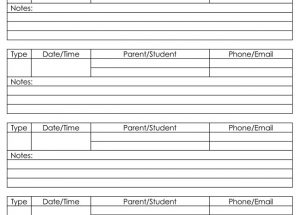 Parent Contact Log Templates for Excel – Printable Documents