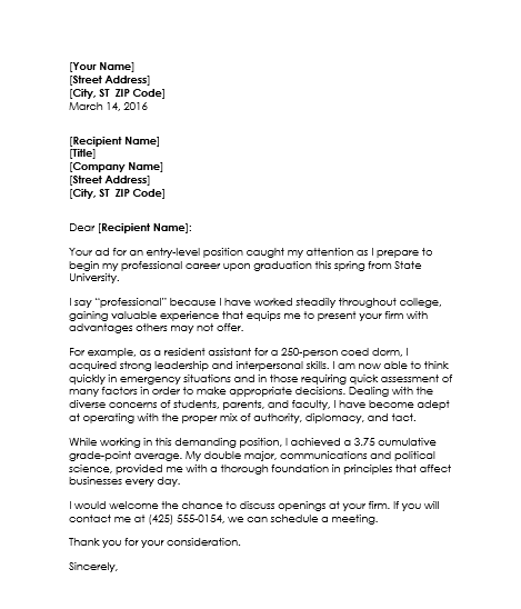 resume cover letter for college students april onthemarch co
