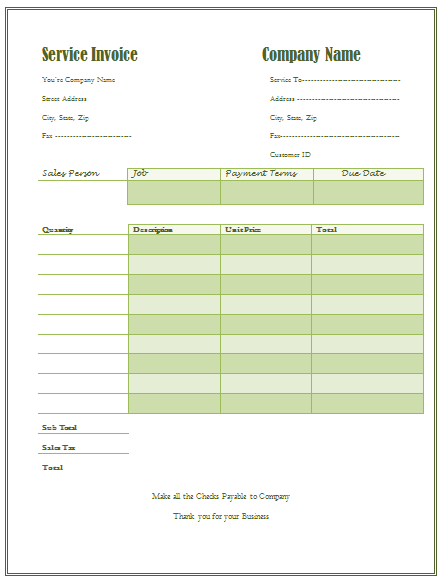 Top Best Invoice Templates To Use For Business Top Form Free - Cleaning services invoice sample
