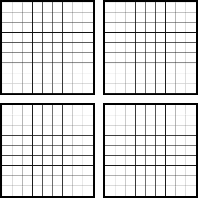 image regarding Printable Sudoku Grid titled Printable Sudoku Grids - Incorporate Exciting Whenever