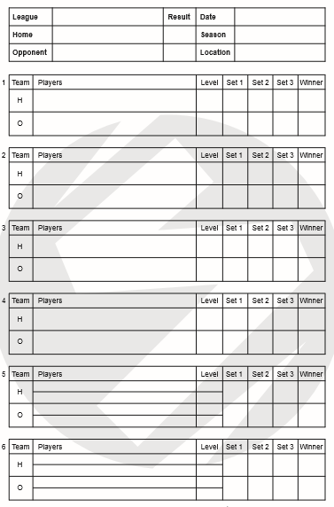 printable free tennis score sheets