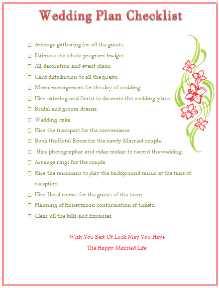 FREE Wedding Rehearsal Checklist Printable Rebecca Autry ...