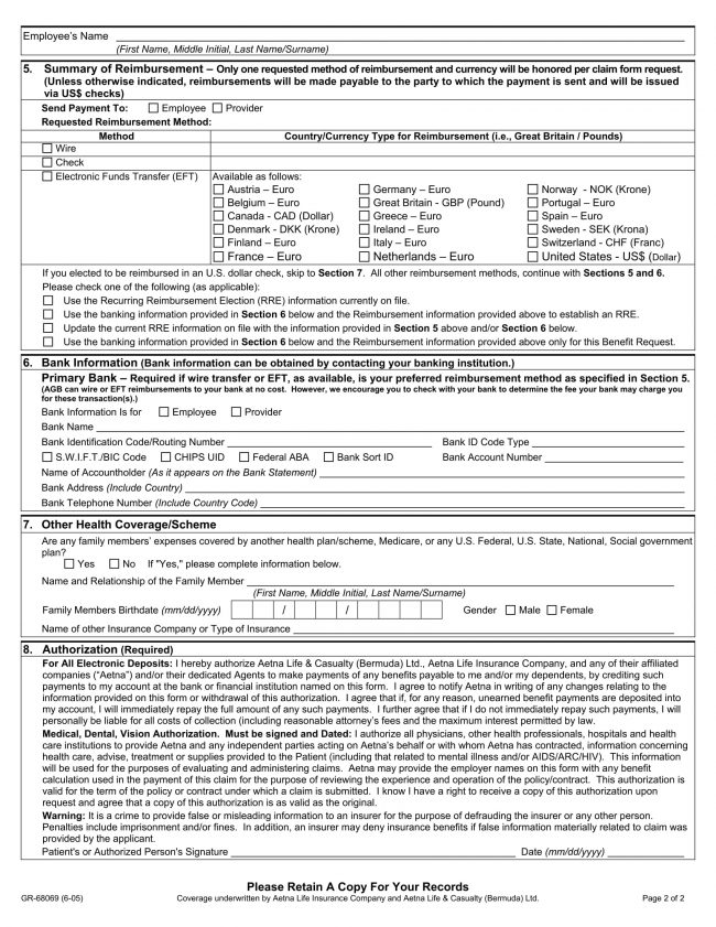 Free Printable Medical Claim Forms – Medical Claim Form