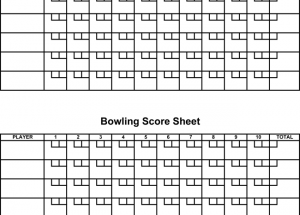 Printable Bowling Score Sheets