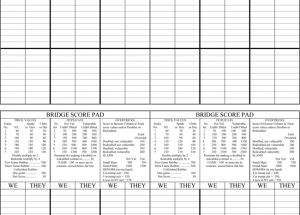 Printable Bridge Score Sheets