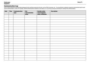 Communication Log Templates