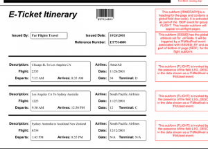 6+ Flight Itinerary Templates Word & Excel