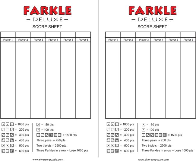 printable farkle score sheets