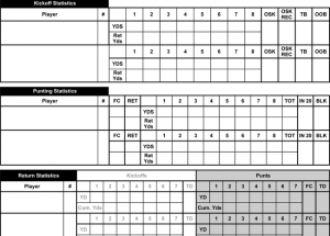 Printable Football Score Sheets