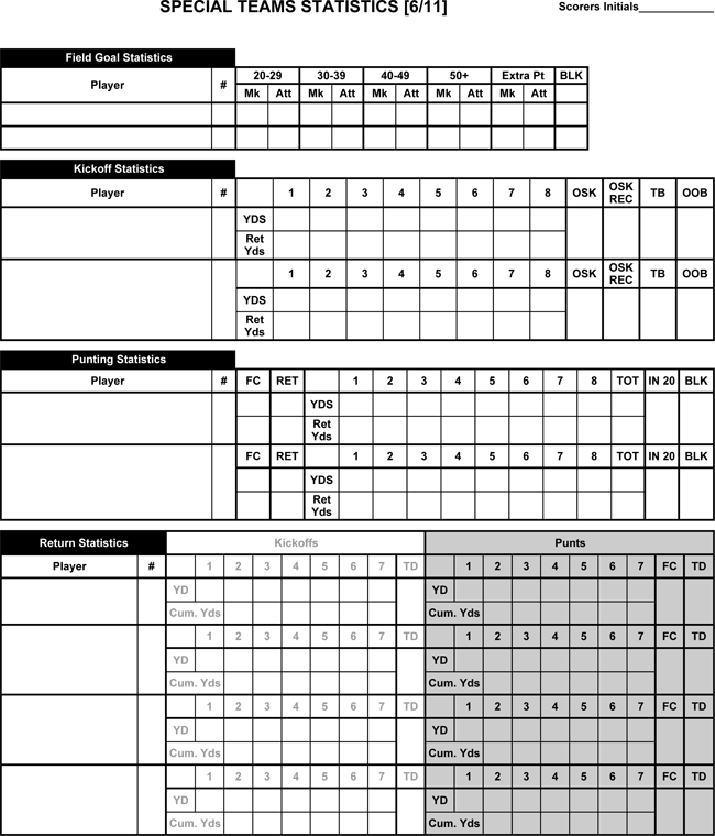 free download football score sheets