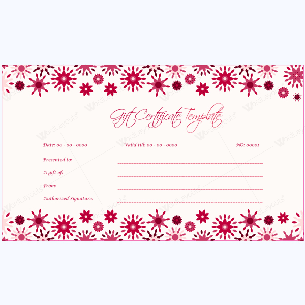 Gift Voucher Template Word  Gift Voucher Template For Word