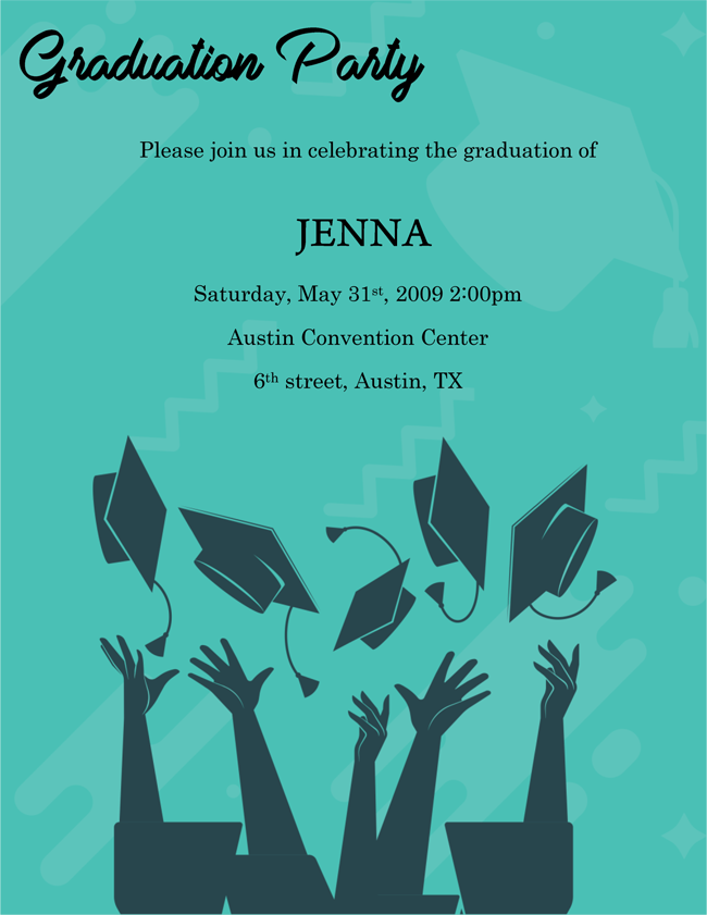 Free Download Graduation Party Invitation Template