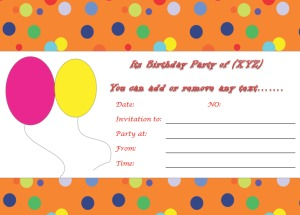 Birthday Invitation Templates to Print Custom Invitations