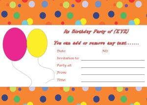 Birthday Invitation Templates to Print Custom Invitations