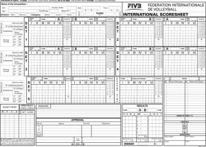 Printable Volleyball Score Sheets