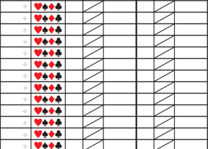 Printable Pinochle Score Sheets