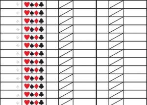 Printable Pinochle Score Sheets