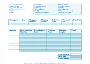 Sale Invoice Template – Easy Invoice Building