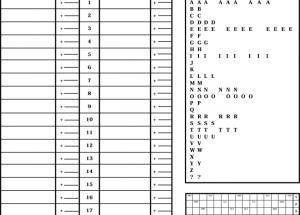Printable Scrabble Score Sheets