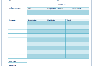 Service Invoice Template for Service Provider Companies