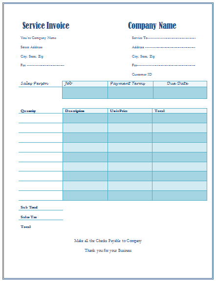 Helpingtohealus  Surprising Invoice Templates  Printable Documents With Extraordinary Service Invoice Template For Service Provider Companies With Comely Auto Repair Shop Invoice Also Proforma Invoice Template Excel In Addition Commercial Invoice For Export And Define Sales Invoice As Well As Business Invoices Online Additionally Samples Of Invoices For Payment From Printabledocsnet With Helpingtohealus  Extraordinary Invoice Templates  Printable Documents With Comely Service Invoice Template For Service Provider Companies And Surprising Auto Repair Shop Invoice Also Proforma Invoice Template Excel In Addition Commercial Invoice For Export From Printabledocsnet