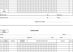 tennis score sheets for umpires � printable documents