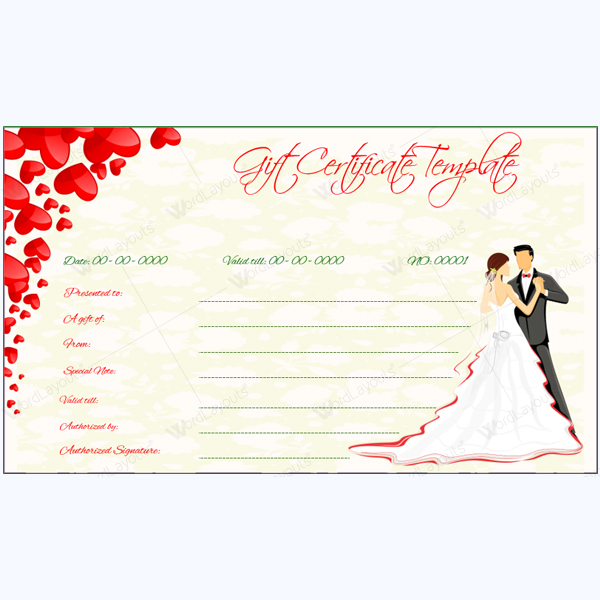 Wedding Gift Vouchers : ... Customized Gift Vouchers for Your Business with Gift Voucher Templates